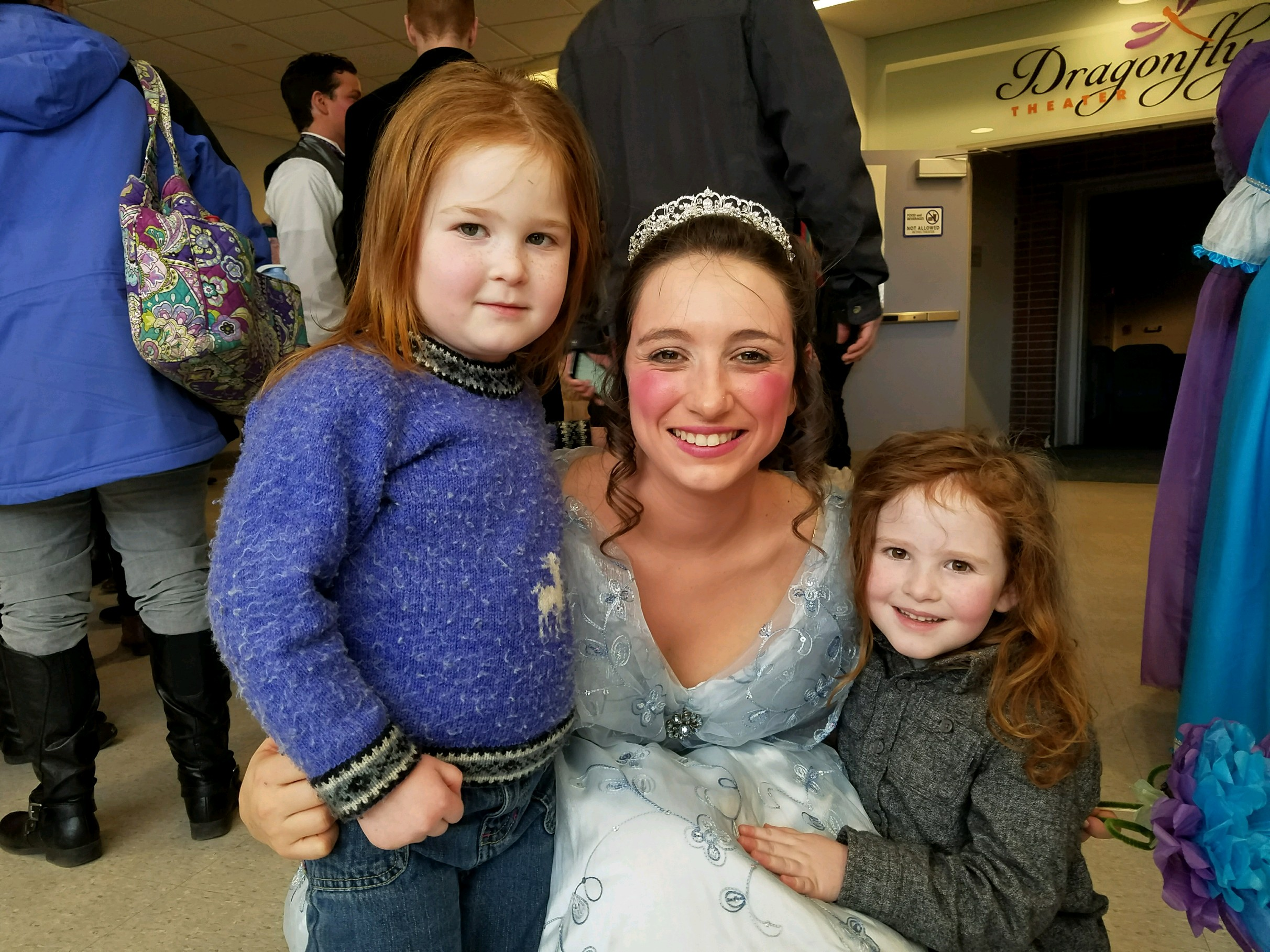 Cinderella greets tiny fans in lobby