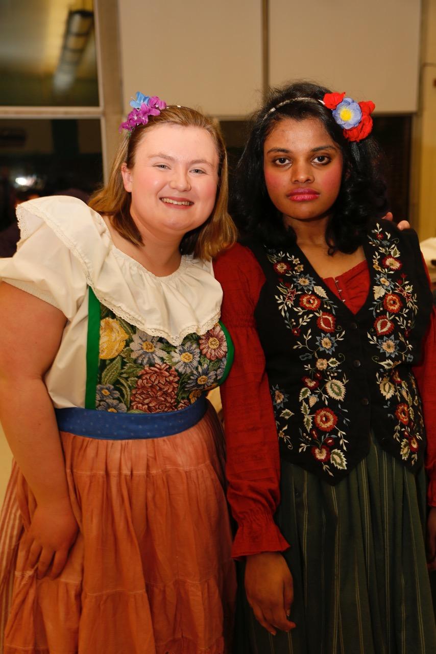 Smiling village girls Katie and Ramya