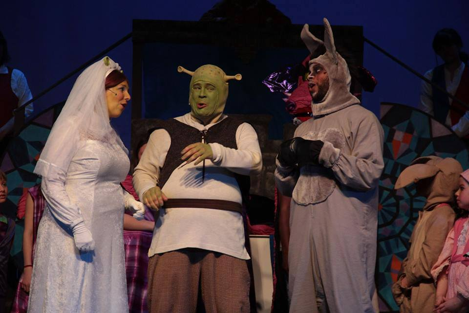 Fiona, Shrek and Donkey wedding
