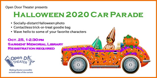 Orange Party Car with Costumed Driver